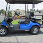 Blue Yamaha golf cart